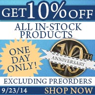 10% off everything In stock!!! One Day Only!!