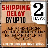 2 day shipping delay!!