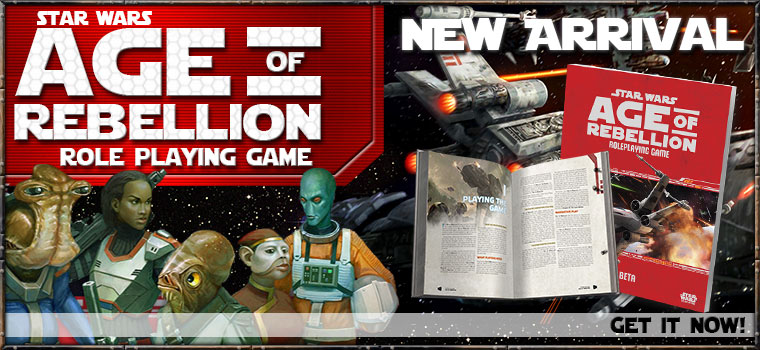Star Wars RPG Age Of Rebellion New Arrival