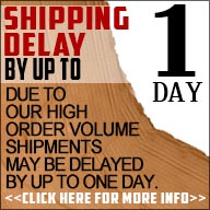 1 day shipping delay!!
