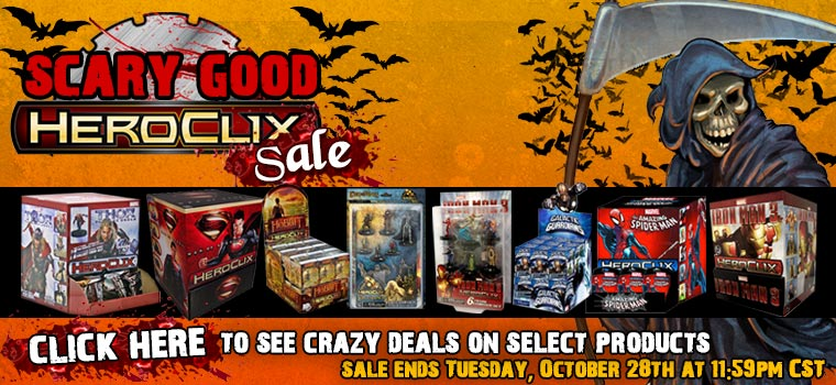 Halloween Scary Good Heroclix Sale!!