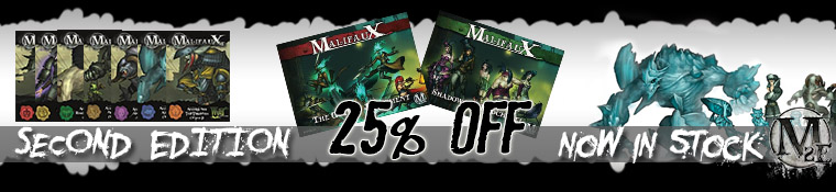 Malifaux Second Edition 25% off all products