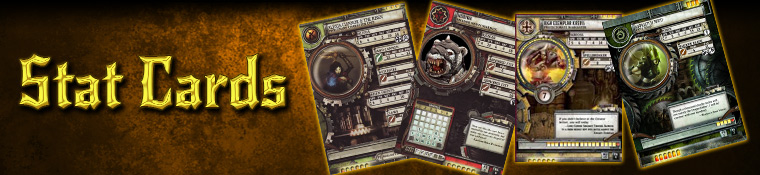 Warmachine - Stat Cards