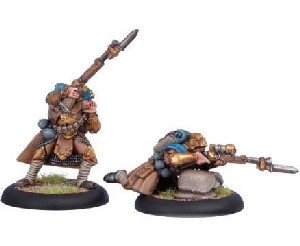 Warmachine: Cygnar - Trencher Officer & Sharpshooter (2)