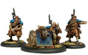 Warmachine: Cygnar - Trencher Cannon Crew (3)