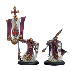 Warmachine: Protectorate - Temple Flameguard Officer & Standard Bearer (2)