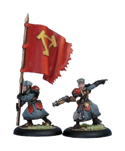 Warmachine: Khador - Winter Guard Officer & Standard Bearer (2)