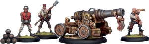 Warmachine: Mercenaries - Privateer Commodore Cannon & Crew