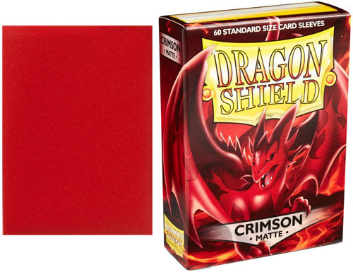 Dragon Shield Sleeves: Matte Crimson (60) | Accessories | Miniature