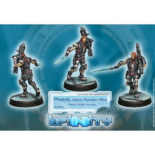 Infinity: ALEPH - Phoenix, Veteran Myrmidon Officer (Hvy Rocket Launcher)