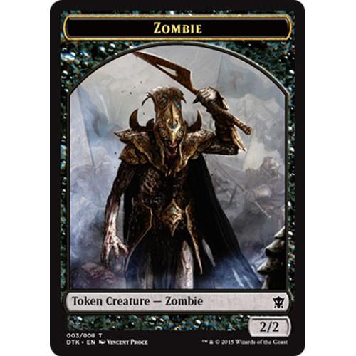 Zombie Token Dragons Of Tarkir Magic The Gathering Miniature