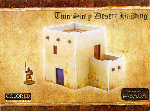 Plast Craft Colored: Saga - Two-Story Desert Building (28mm) | Table
