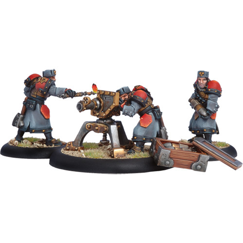 Warmachine: Khador - Winter Guard Field Gun Crew (3)