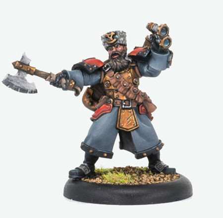 Warmachine: Khador - Winter Guard Artillery Kaptain (1)