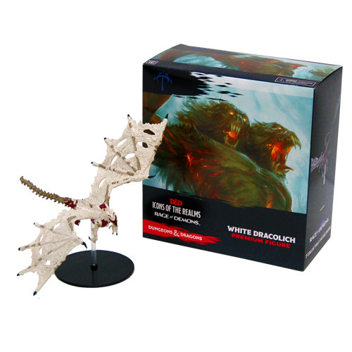 Dungeons & Dragons Fantasy Miniatures: Rage of Demons - White Dracolich Premium Figure