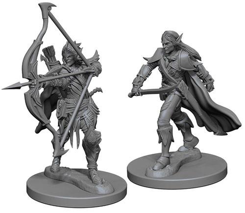 pathfinder battles deep cuts unpainted miniatures elf male fighters