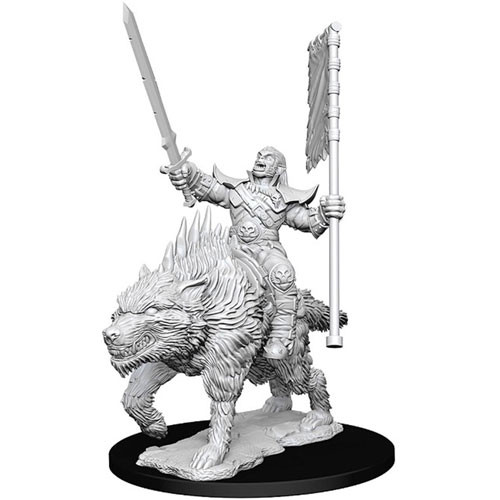 Pathfinder Battles Deep Cuts Miniatures: Orc on Dire Wolf (1)