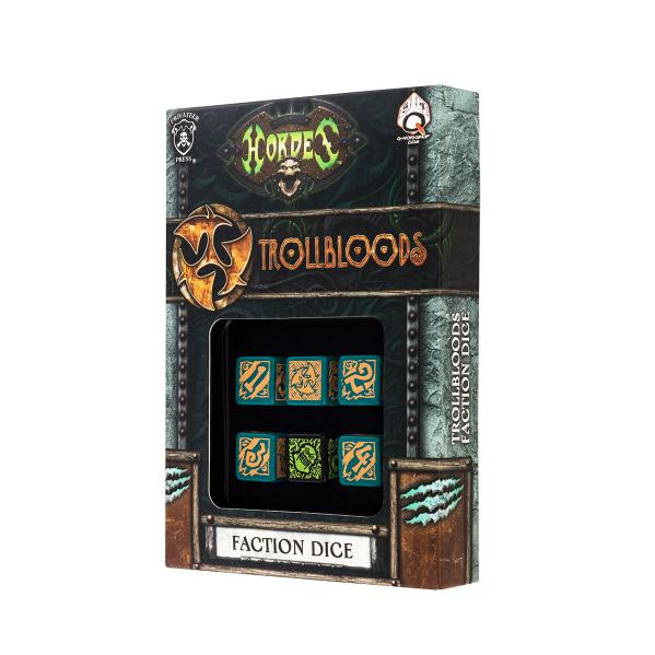 Q-Workshop Hordes Faction Dice Set - Trollbloods (NewArrival)