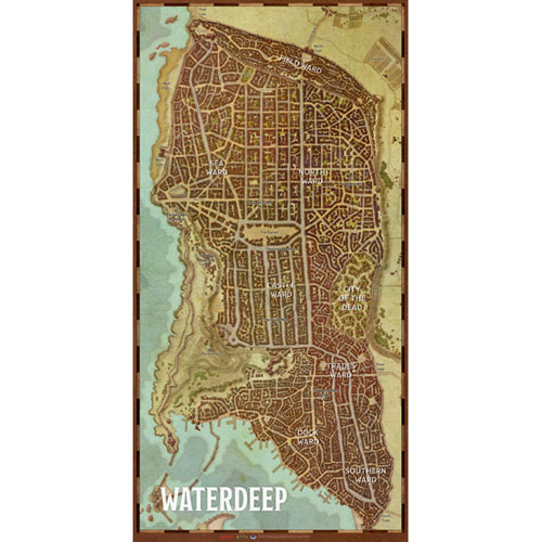 D&D 5th Edition RPG: Waterdeep Dragon Heist Map Set | Role Playing