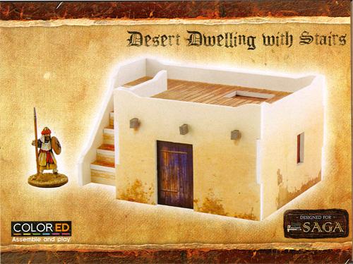 Plast Craft Colored: Saga - Desert Building Set (28mm) | Table Top
