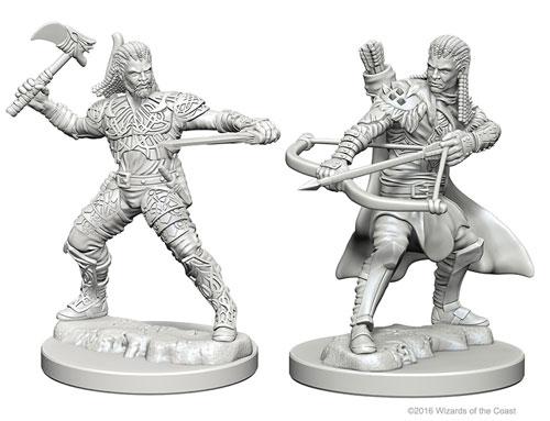 Dungeons & Dragons: Nolzur's Marvelous Unpainted Miniatures - Human Male Ranger (2) (The Drop)