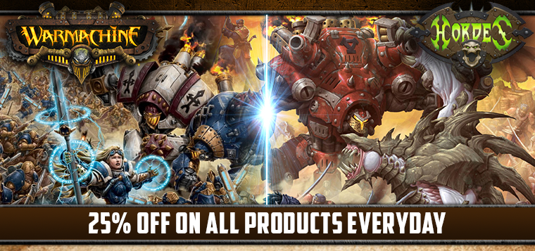 Miniature Market - All Warmachine and Hordes 25% off!